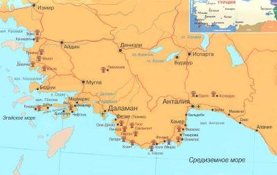 Турецкое побережье средиземного моря