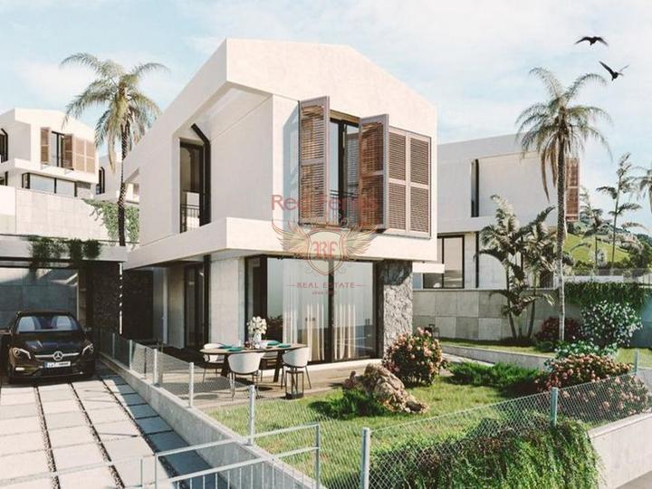 Кирения / Караогланоглу £ 119,000 Особняк с 3 спальнями + полностью новый + 3 этажа + большая терраса на крыше.