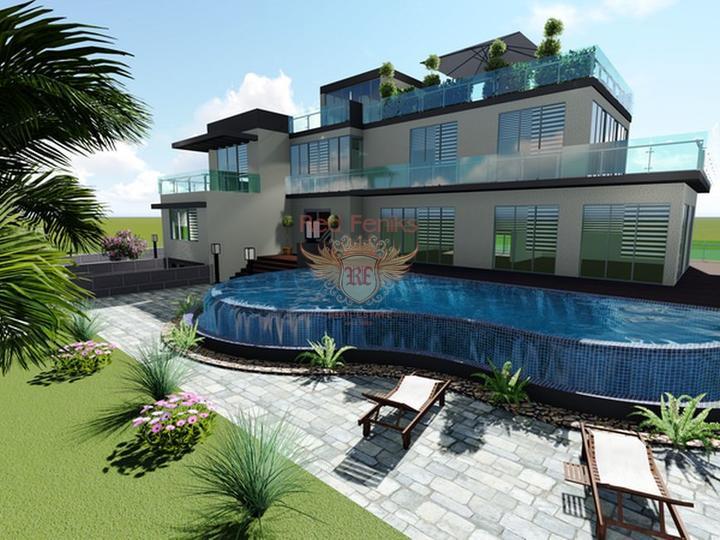 £ 1,250,000 Виллы с 4 спальнями + современный дизайн + пейзажный бассейн + гараж + встроенный кондиционер + лифт.