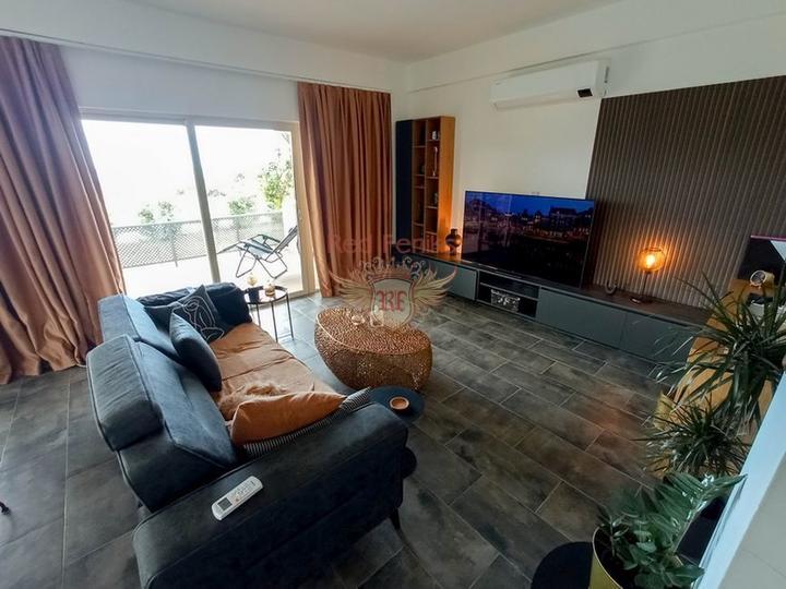 Студии класса Люкс + коммунальный бассейн + SPA центр + песчаный пляж + рассрочка + Турецкий титул, Квартира в Фамагуста Северный Кипр