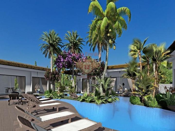 Роскошные апартаменты 1 + 1 + общий бассейн + СПА-центр + песчаный пляж + план оплаты + Титул до 74 лет в Турции, Квартира в Фамагуста Северный Кипр