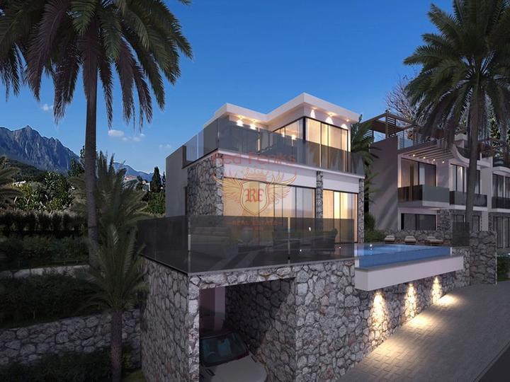Роскошные апартаменты 2 + 1 + общий бассейн + СПА-центр + песчаный пляж + план оплаты + Титул до 74 лет в Турции, Квартира в Фамагуста Северный Кипр