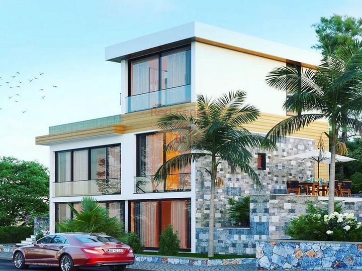Роскошные апартаменты 3 + 1 + общий бассейн + СПА-центр + песчаный пляж + план оплаты + Титул до 74 лет в Турции, Квартира в Фамагуста Северный Кипр