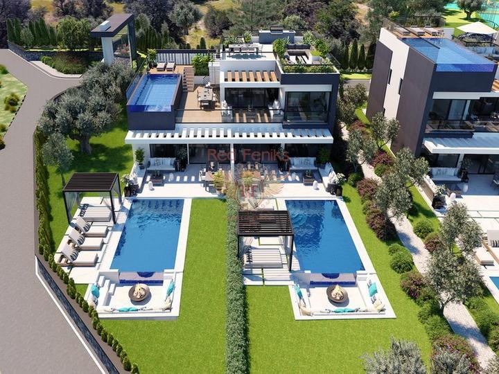 Роскошная вилла с 3 спальнями, полностью меблированная, с кондиционерами, кухонной техникой и видом на море, Дом в Кирения Северный Кипр