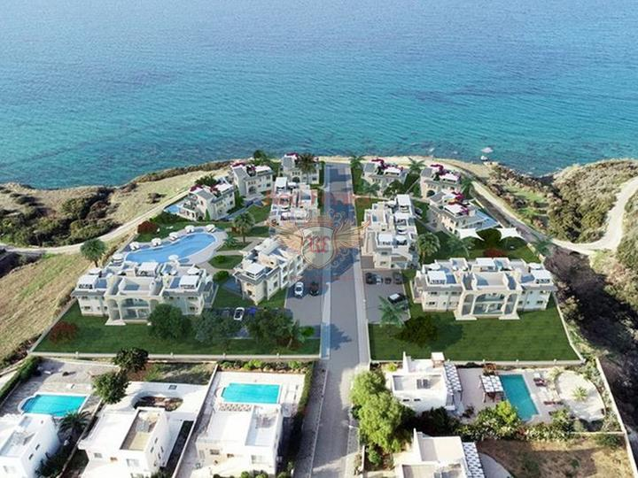 Элитные пентхаусы с 2 спальнями на первой линии моря с общим бассейном, Квартира в Кирения Северный Кипр