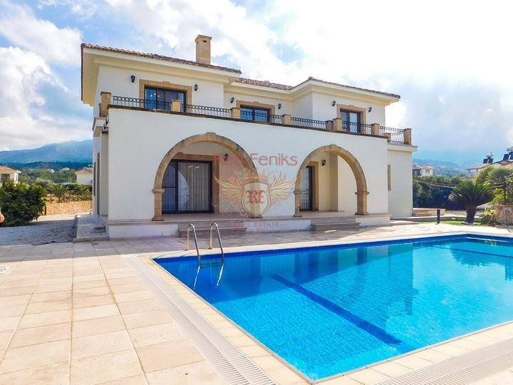Роскошная вилла с бассейном с доступом к пляжу, купить дом в Кирения