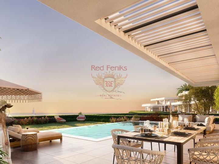Апартаменты с 2 & 3 спальнями + центр города + стиль Модерн + охрана комплекса + Турецкие титулы, Квартира в Кирения Северный Кипр