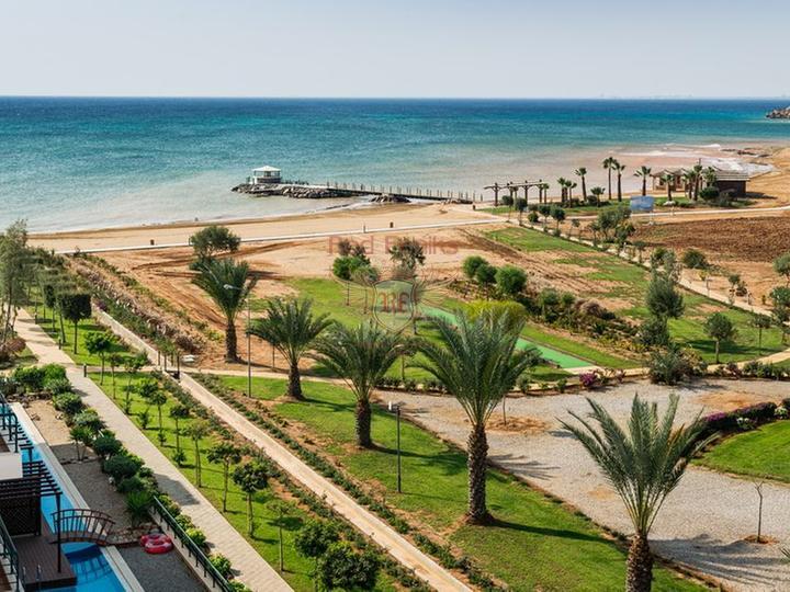 Студия и 3-комнатные вторичные апартаменты класса люкс + общий бассейн + СПА центр + песчаный пляж, Квартира в Фамагуста Северный Кипр