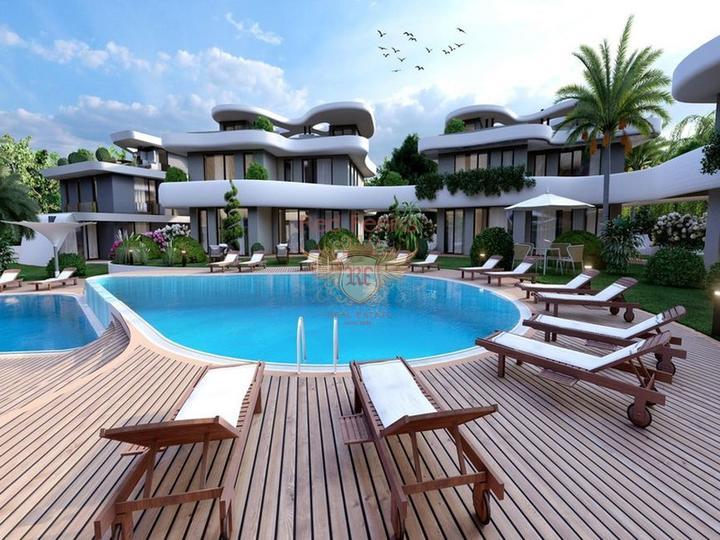 Вилла с 3 спальнями на берегу моря + камин + прямой выход к морю + турецкие титулы, Дом в Кирения Северный Кипр