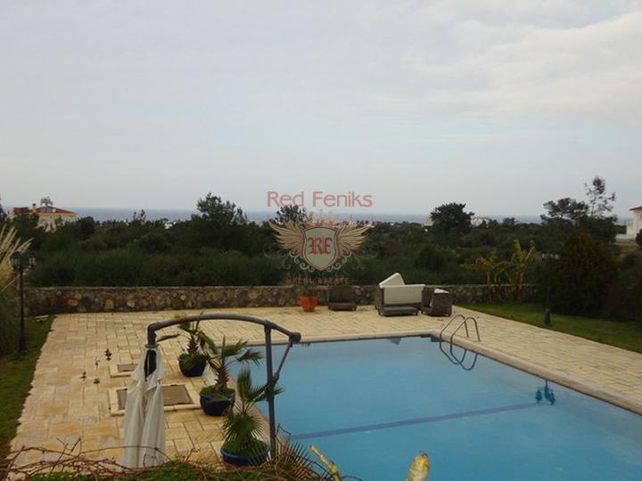 Роскошная вилла + центральное отопление + кондиционернке с 5 спал, Вилла в Кирения Северный Кипр