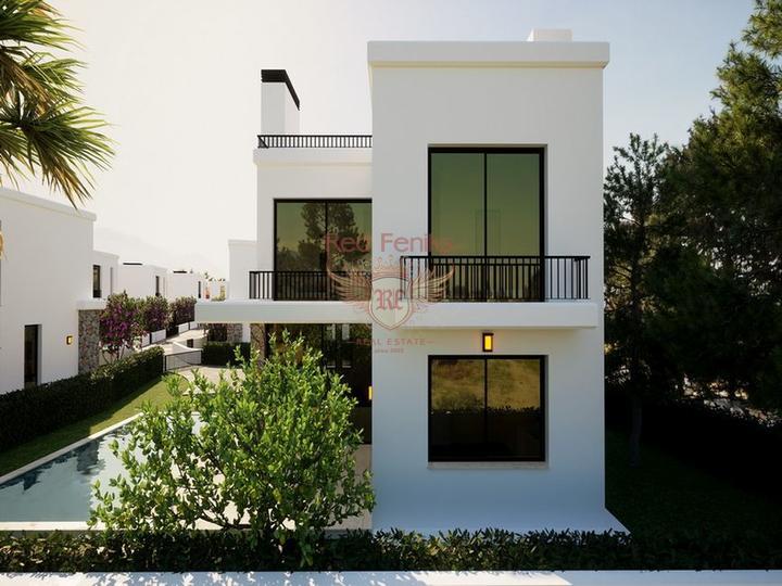 Пентхаус с 1 спальней + кухонные гарнитуры + общий бассейн + частный пляж, Квартира в Кирения Северный Кипр