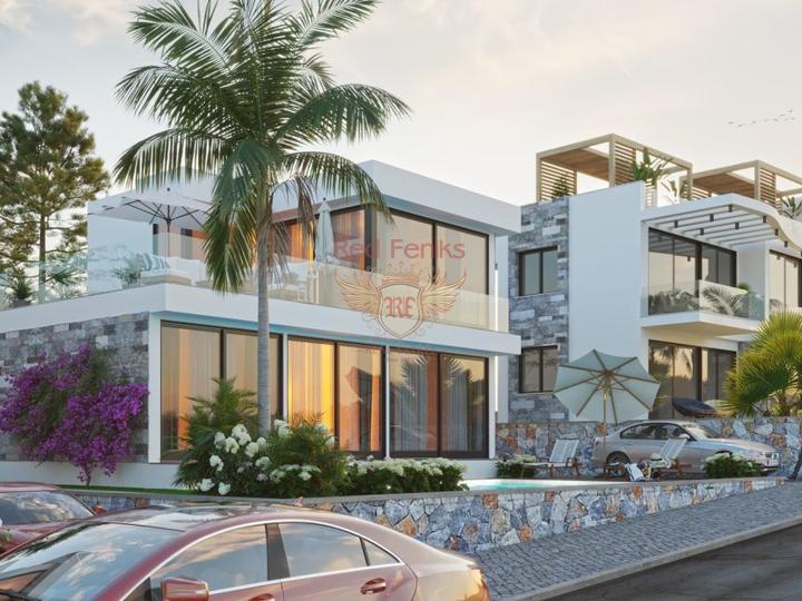 Элегантные апартаменты 3+1 + общий бассейн + пешая доступность до моря, Квартира в Кирения Северный Кипр