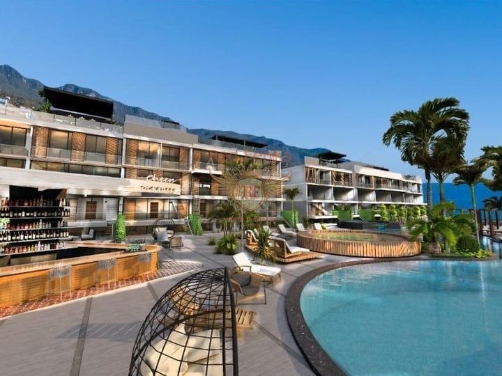 Современные апартаменты с 3 спальнями + частный бассейн + пешая доступность до моря, Квартира в Кирения Северный Кипр