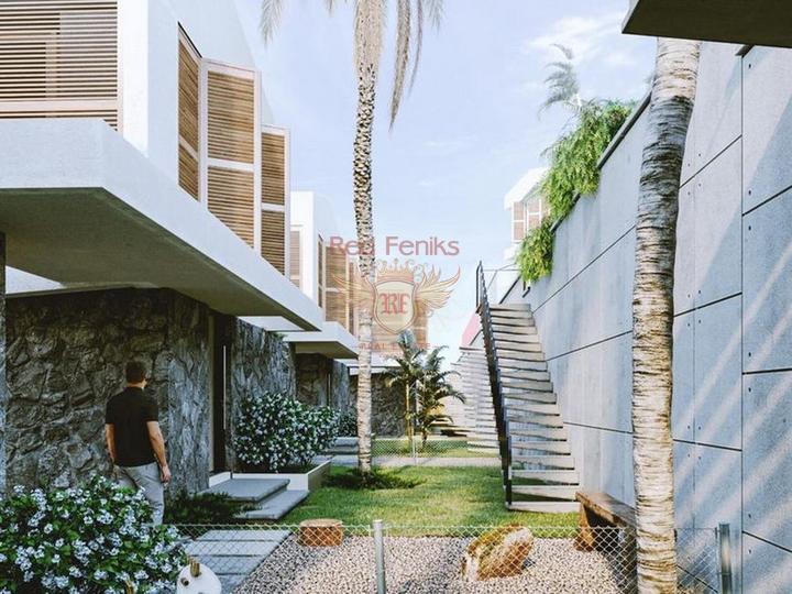 Роскошная вилла с 3 спальнями, полностью меблированная, с кондиционерами, кухонной техникой и видом на море, купить дом в Кирения