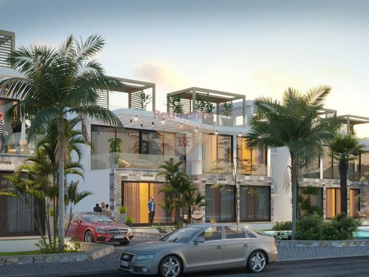 Элегантные апартаменты 3+1 + общий бассейн + пешая доступность до моря, купить квартиру в Кирения