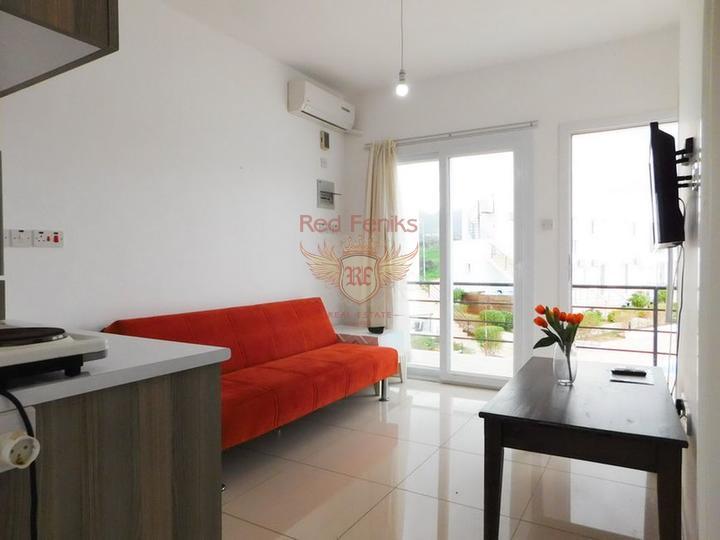 Односпальные апартаменты со всей мебелью и бытовой техникой в курортном комплексе, купить квартиру в Кирения