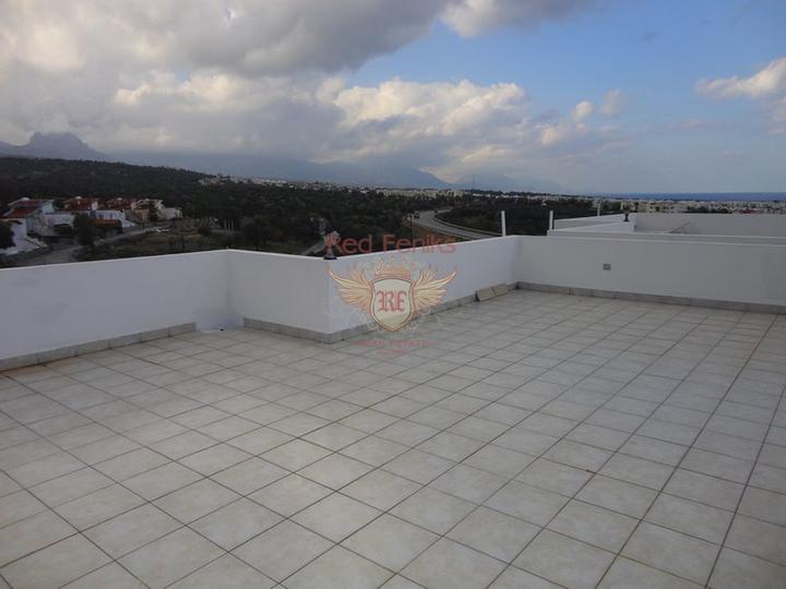 Пентхаус с 2 спальнями + общий бассейн + вид на море, купить квартиру в Кирения