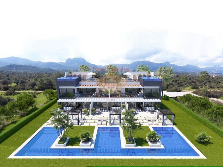 Новая вилла с 3 спальнями в современном стиле, купить виллу в Кирения