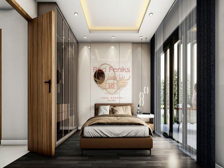 £ 61 900 Роскошные 1+1 апартаменты в комплексе с бассейном + СПА центр + рестораны + кинотеатры + 500 метров от песчаного пляжа.