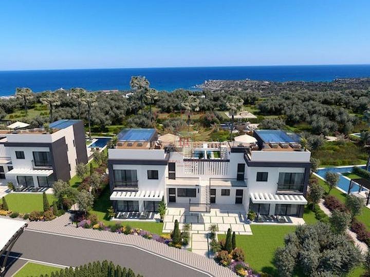 Просторная вилла с 5 спальнями + расположение в деревне с прекрасным видом на море, Дом в Кирения Северный Кипр