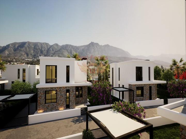 Бунгало с 3 спальнями + бассейн 8 х 4 м + большой сад с оливковой рощей, Дом в Кирения Северный Кипр