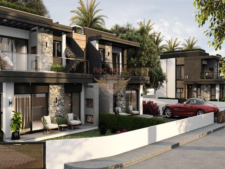 Особняк с 3 спальнями + полностью новый + 3 этажа + большая терраса на крыше, Вилла в Кирения Северный Кипр
