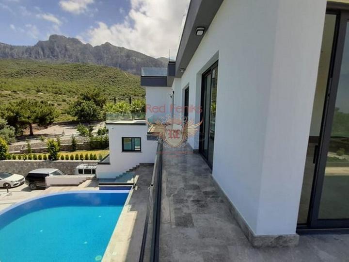 Виллы с 4 спальнями + современный дизайн + пейзажный бассейн + гараж + встроенный кондиционер + лифт, купить дом в Кирения