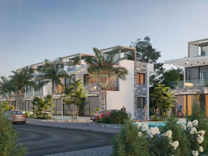 Элегантные апартаменты 2+1 + общий бассейн + пешая доступность до моря, купить квартиру в Кирения