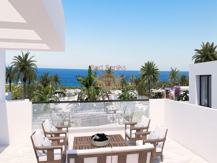 Роскошные апартаменты 3 + 1 + общий бассейн + СПА-центр + песчаный пляж + план оплаты + Титул до 74 лет в Турции, купить квартиру в Фамагуста