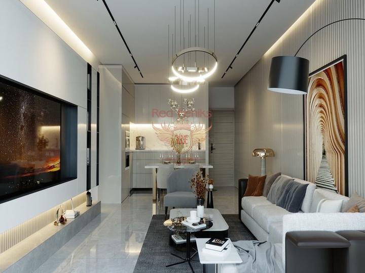 Просторная вилла с 5 спальнями + расположение в деревне с прекрасным видом на море, купить виллу в Кирения