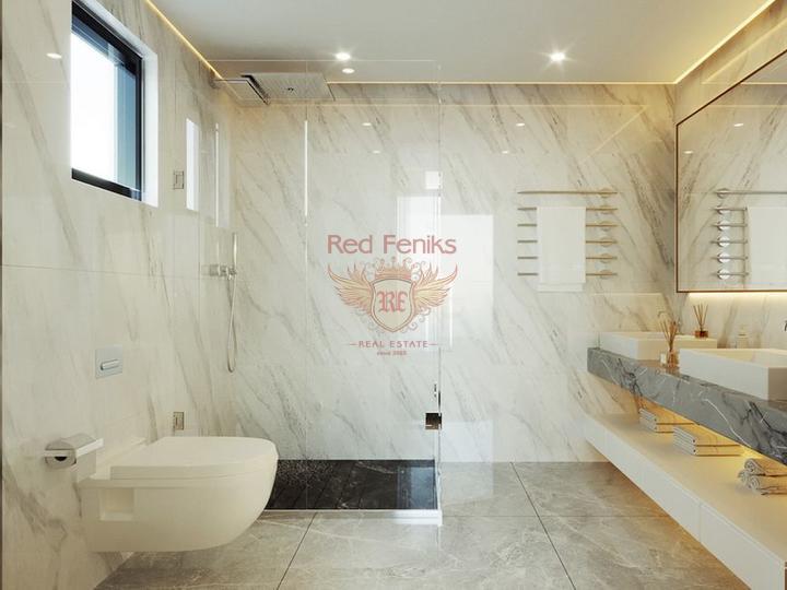 3-х комнатный двухквартирный дом + общий бассейн и общая зеленая территория, купить виллу в Кирения