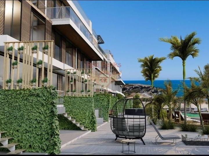 Современные двухуровневые апартаменты с 2 спальнями, купить квартиру в Кирения