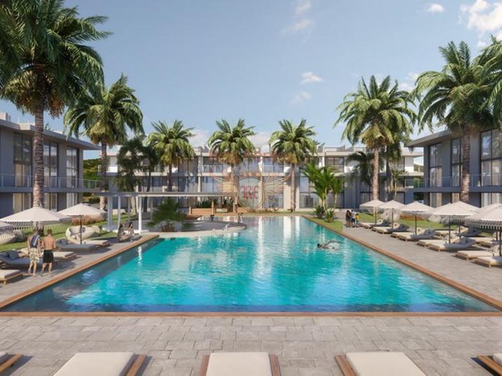 Пентхаус с 1 спальней на берегу моря + бытовая техника + общий бассейн + частный пляж, Квартира в Кирения Северный Кипр