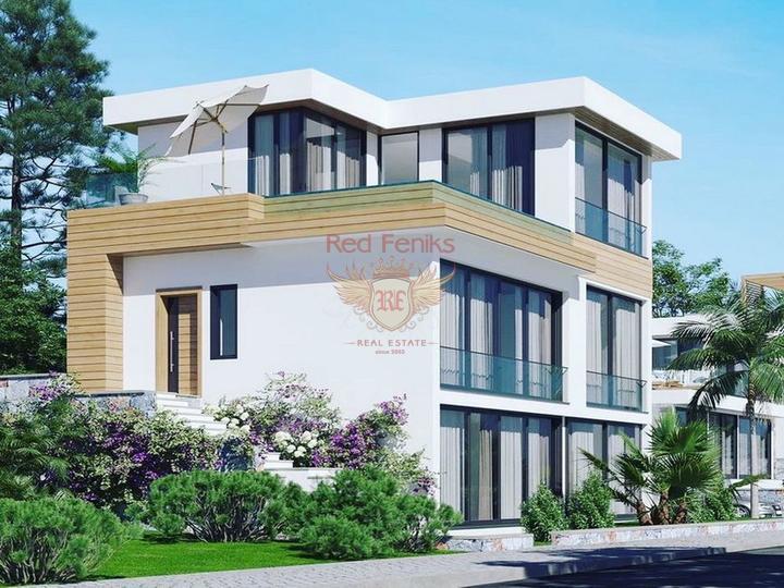 Виллы с 3 спальнями + общий бассейн + схема оплаты + пешая доступность до моря, Вилла в Кирения Северный Кипр