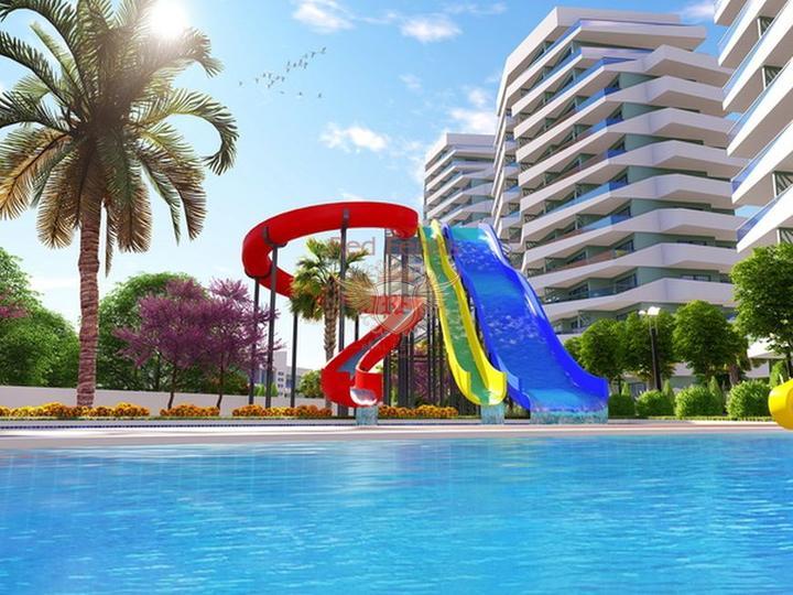 Современные апартаменты 1+1 всего в 550 м от прекрасного песчаного пляжа, Квартира в Фамагуста Северный Кипр