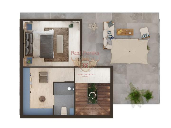 Alanya Kargicak, 1 + 1 apartment with sea view for Sale, apartments in Turkey, apartments with high rental potential in Turkey buy, apartments in Turkey buy