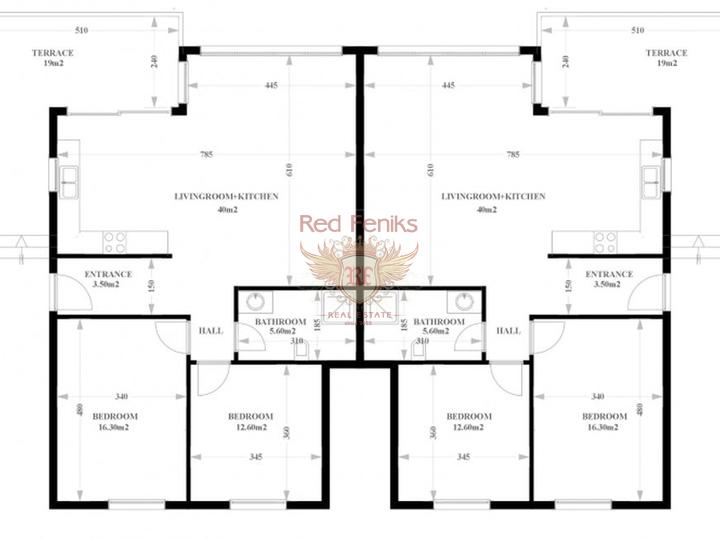 Квартиры 2+1, 98 м2 в тихом месте, купить квартиру в Алания