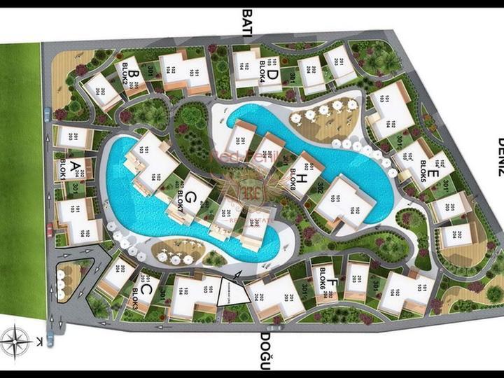 Квартиры 3 + 1 современный проект на стадии строительства, купить квартиру в Кирения