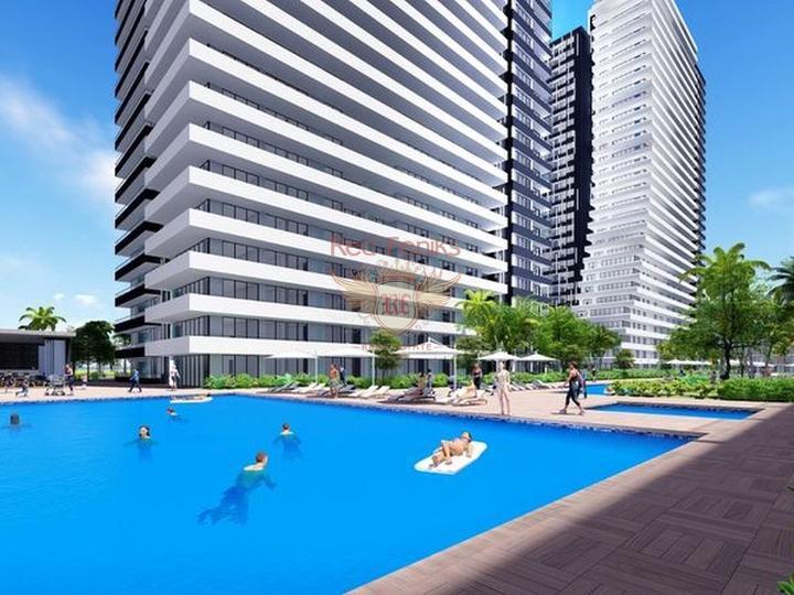 £ 89 900 Роскошные с 2 спальнями в комплексе с бассейном + СПА центр + рестораны + кинотеатры + 500 метров от песчаного пляжа.