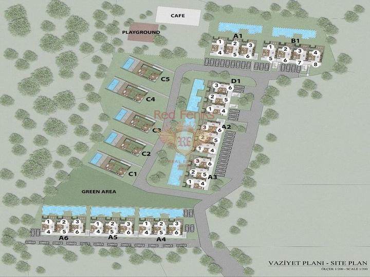Квартира 1+1 + частный сад с бассейном + Полностью Меблированная - Пакет Люкс, Квартира в Кирения Северный Кипр