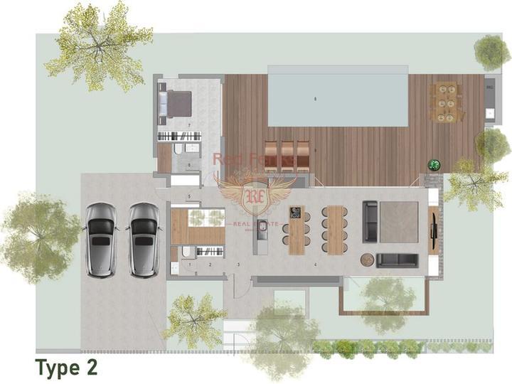 2-х комнатные апартаменты класса люкс на первой линии моря с общим бассейном, Квартира в Кирения Северный Кипр