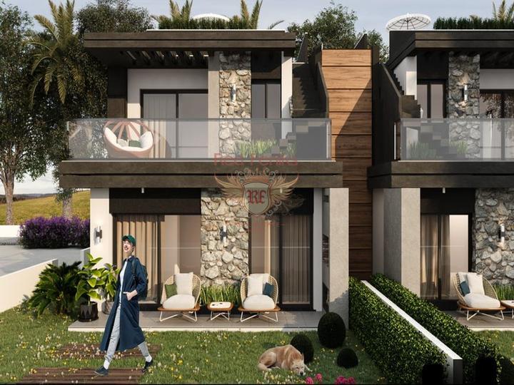 Бунгало с 3 спальнями + бассейн 8 х 4 м + большой сад с оливковой рощей, купить дом в Кирения
