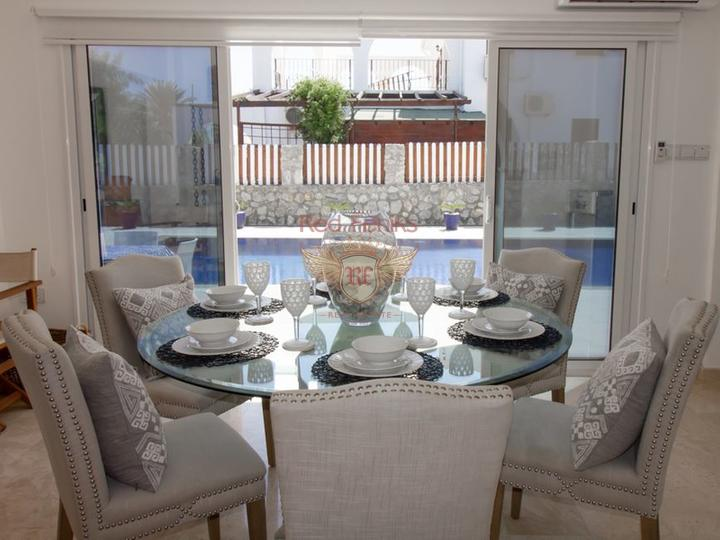 Вилла с 3 спальнями + бассейн 10 м x 5 м + частично меблированная, Вилла в Кирения Северный Кипр