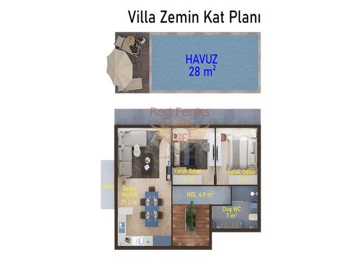 Односпальный пентхаус + меблировка + 3 бассейна + кондиционеры + бытовая техника, купить квартиру в Кирения