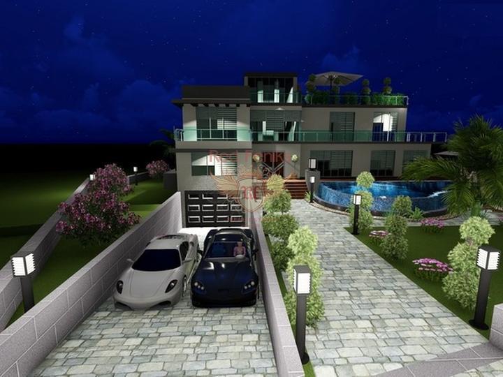 Виллы с 4 спальнями + современный дизайн + пейзажный бассейн + гараж + встроенный кондиционер + лифт, купить виллу в Кирения