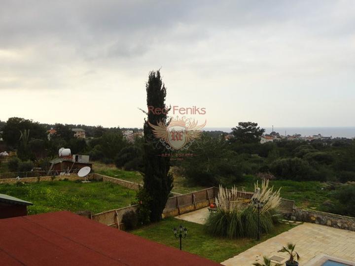 Роскошная вилла + центральное отопление + кондиционернке с 5 спал, купить виллу в Кирения