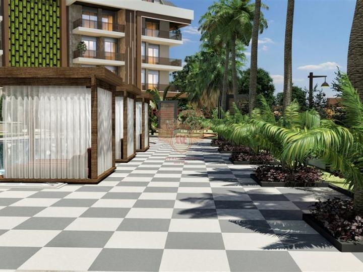 Новые квартиры в Аланье, район Оба, купить квартиру в Алания
