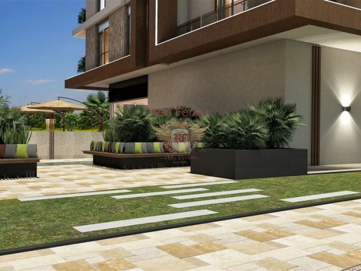Новые квартиры в Аланье, район Оба, Квартира в Алания Турция