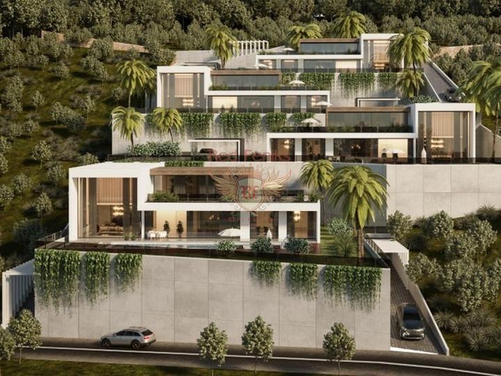 Новый уникальный комплекс вилл, расположенный в Каргыджаке, Аланья.