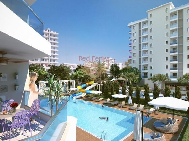 Квартиры в Алании рядом с песчаным пляжем, Квартира в Алания Турция